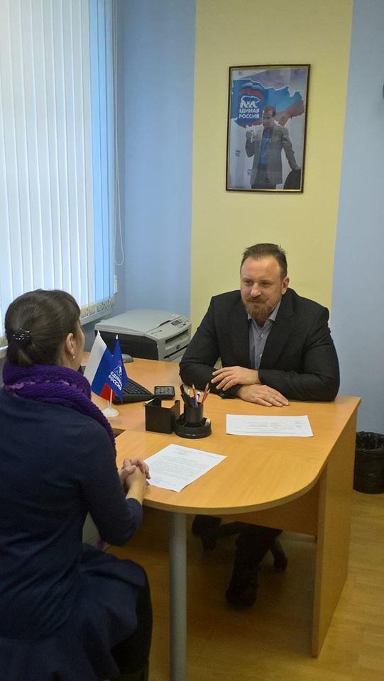 Депутат Костромской областной Думы И.А. Яхонтов провел личный прием граждан.