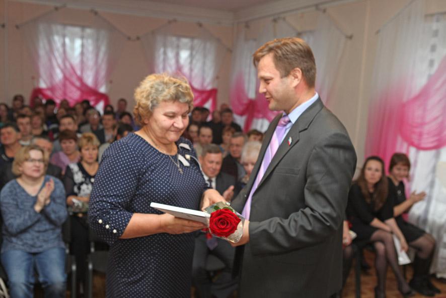 Аграрии принимают поздравления и награды
