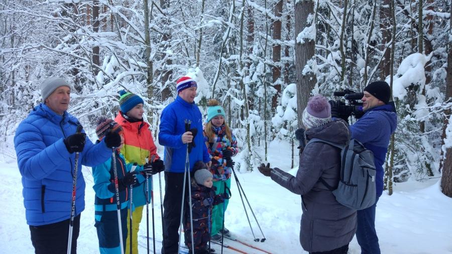 Новогодние праздники на лыжне